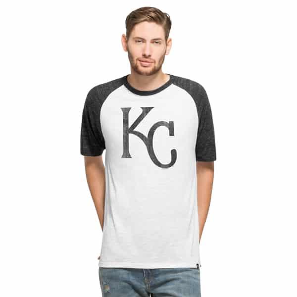 Kansas City Royals Tri-State Raglan Mens White Wash 47 Brand