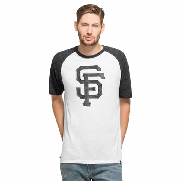 San Francisco Giants Tri-State Raglan Mens White Wash 47 Brand