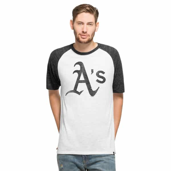 Oakland Athletics Tri-State Raglan Mens White Wash 47 Brand