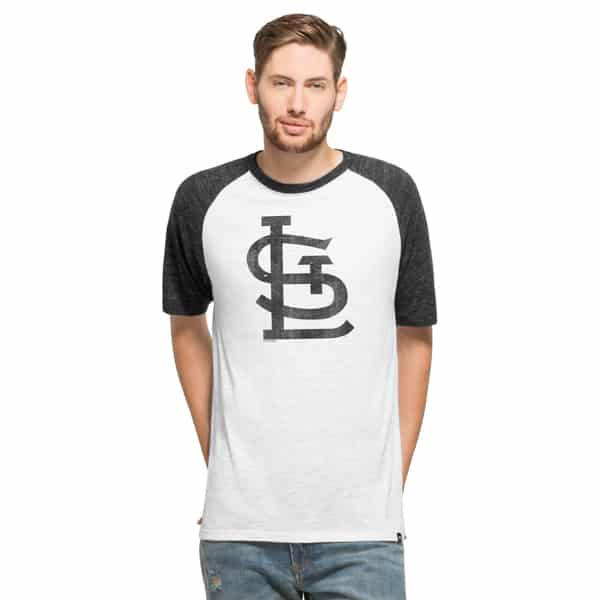 St. Louis Cardinals Tri-State Raglan Mens White Wash 47 Brand Shirt