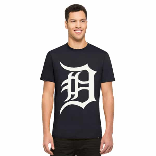 Detroit Tigers Crosstown Flanker T-Shirt Mens Fall Navy 47 Brand