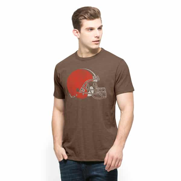 Cleveland Browns Scrum T-Shirt Mens Chocolate 47 Brand