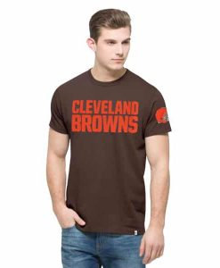 Cleveland Browns Fieldhouse T-Shirt Mens Chocolate 47 Brand