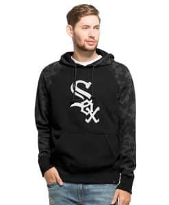 Chicago White Sox Stealth Hoodie Mens Jet Black 47 Brand