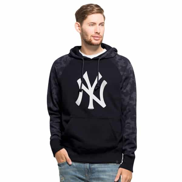 New York Yankees Stealth Hoodie Mens Fall Navy 47 Brand