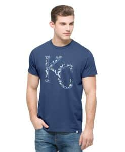 Kansas City Royals Crosstown Flanker T-Shirt Mens Bleacher Blue 47 Brand