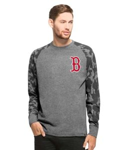 Boston Red Sox Recon Camo Raglan Mens Tarmac 47 Brand