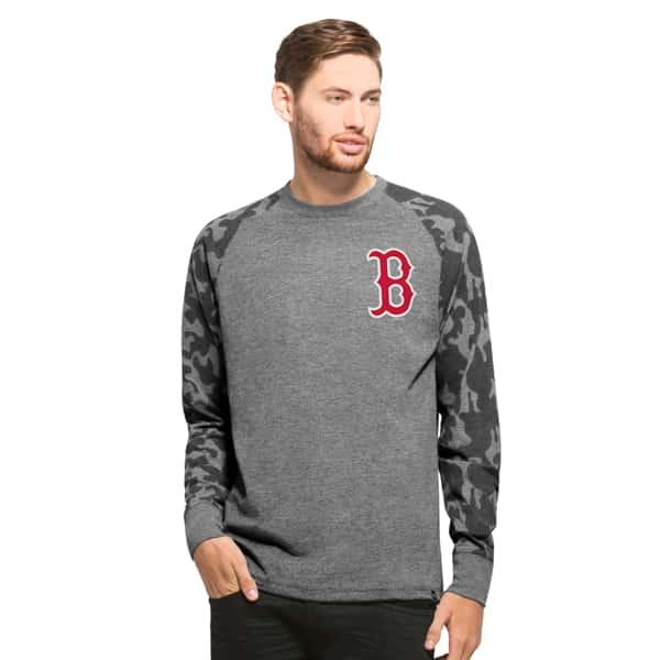 Boston Red Sox Recon Camo Raglan Mens Tarmac 47 Brand