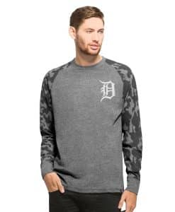Detroit Tigers Recon Camo Raglan Long Sleeve Shirt Mens Tarmac 47 Brand