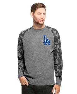 Los Angeles Dodgers Recon Camo Raglan Mens Tarmac 47 Brand