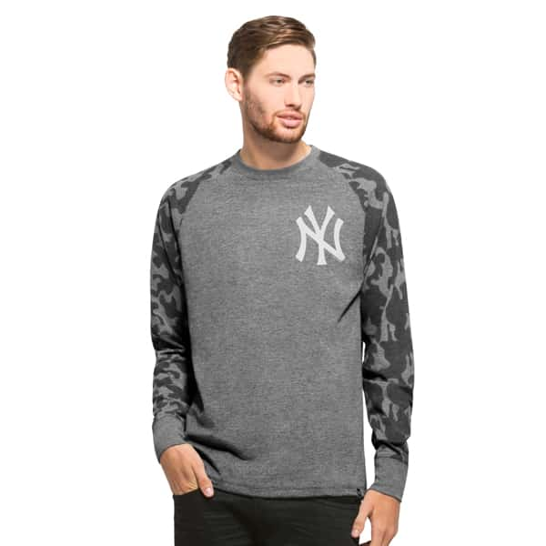 New York Yankees Recon Camo Raglan Mens Tarmac 47 Brand