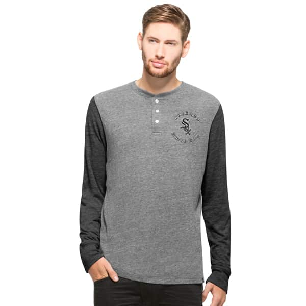 Chicago White Sox Midfield Henley Mens Neps Grey 47 Brand