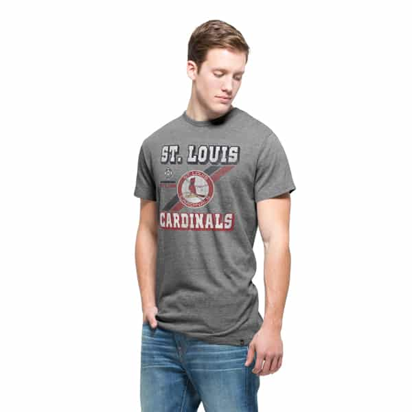 St. Louis Cardinals 47 Brand Mens Vintage Grey Tri-State T-Shirt