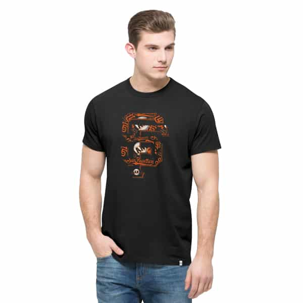 San Francisco Giants Crosstown Flanker T-Shirt Mens Jet Black 47 Brand