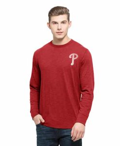 Philadelphia Phillies Stadium Long Sleeve Scrum Mens Rescue Red 47 Brand