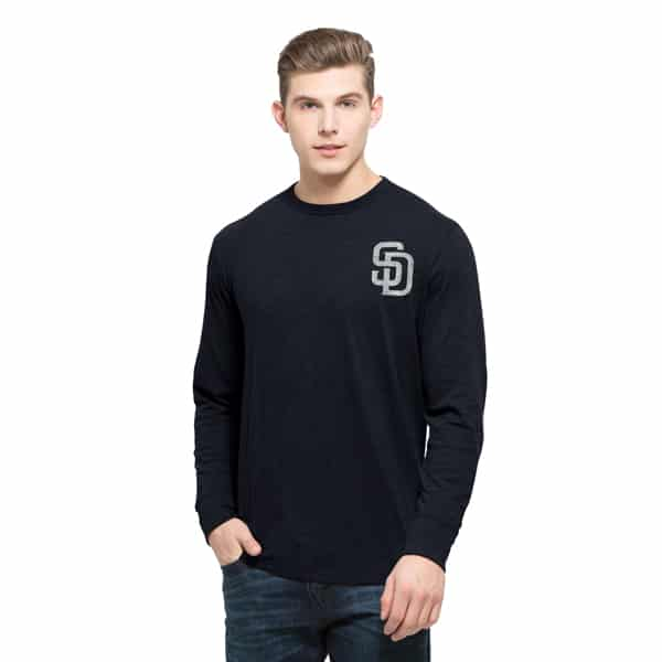 San Diego Padres Stadium Long Sleeve Scrum Mens Fall Navy 47 Brand