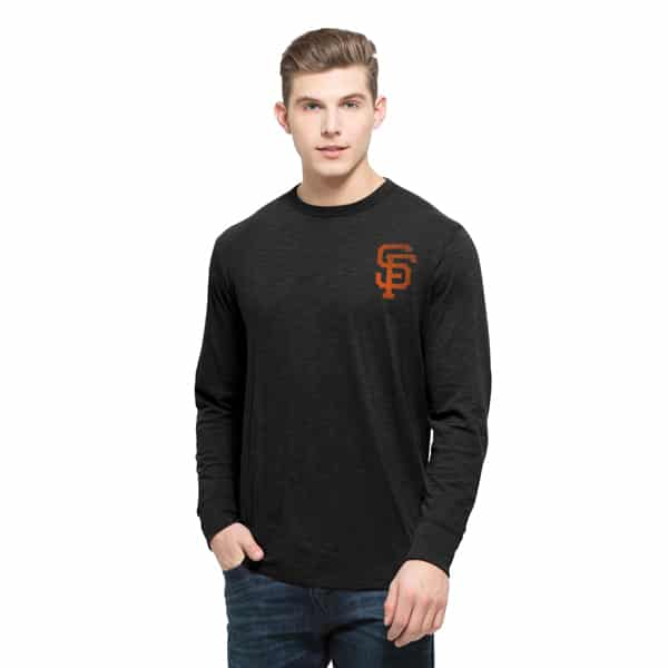 San Francisco Giants Stadium Long Sleeve Scrum Mens Jet Black 47 Brand