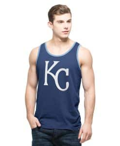 Kansas City Royals Men's 47 Brand Bleacher Blue Crosstown Tank Top
