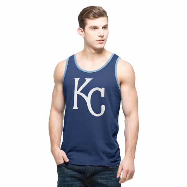 Kansas City Royals Crosstown Tank Top Mens Bleacher Blue 47 Brand