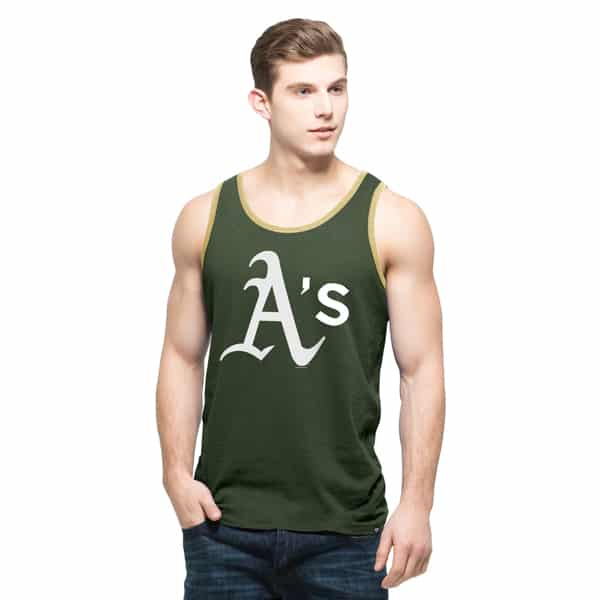Oakland Athletics Crosstown Tank Top Mens Bottle Green 47 Brand