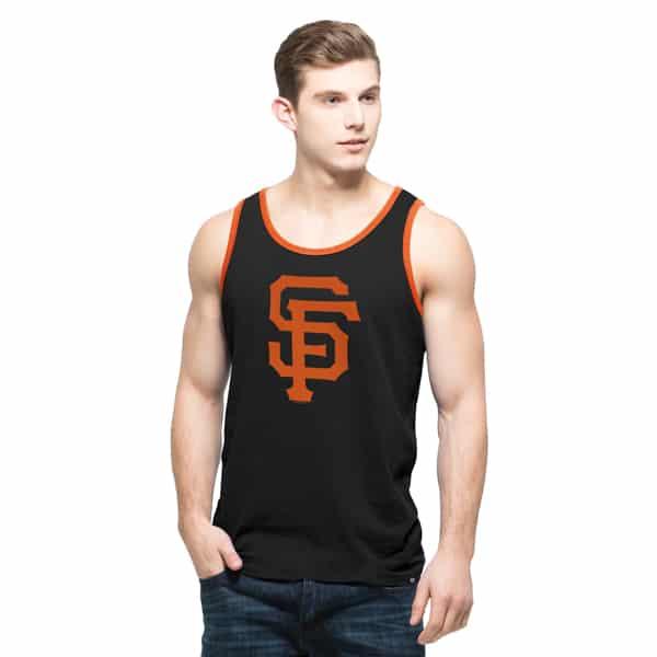 San Francisco Giants Crosstown Tank Top Mens Jet Black 47 Brand