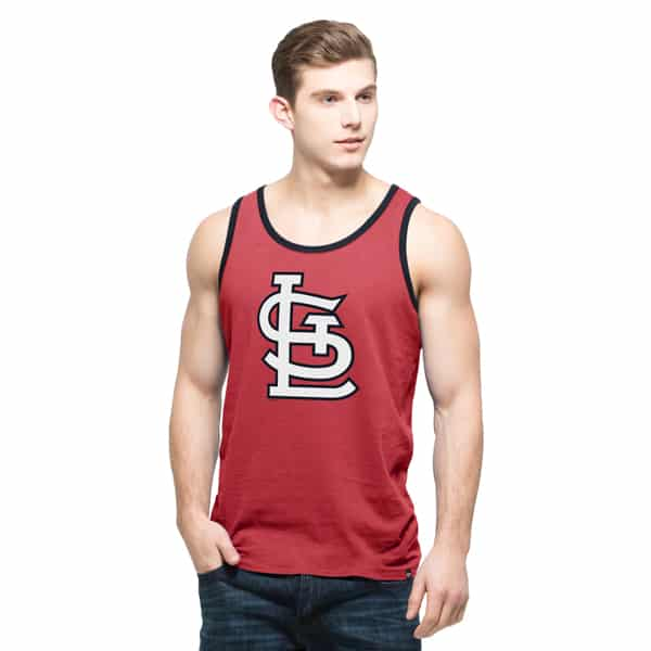 St. Louis Cardinals 47 Brand Red Crosstown Mens Rescue Tank Top