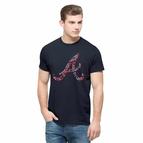 Atlanta Braves Crosstown Flanker T-Shirt Mens Fall Navy 47 Brand