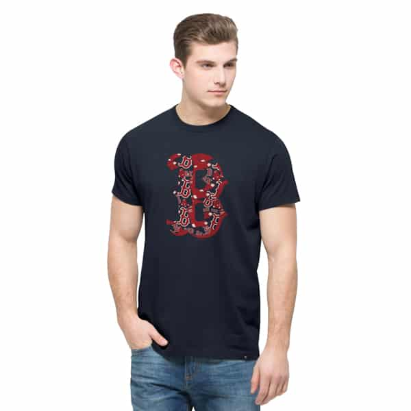 Boston Red Sox Crosstown Flanker T-Shirt Mens Fall Navy 47 Brand