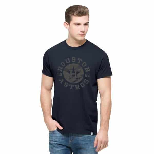 Houston Astros Crosstown Flanker T-Shirt Mens Fall Navy 47 Brand