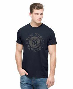 New York Yankees Crosstown Flanker T-Shirt Mens Fall Navy 47 Brand