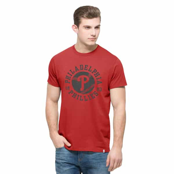 Philadelphia Phillies Crosstown Flanker T-Shirt Mens Rescue Red 47 Brand