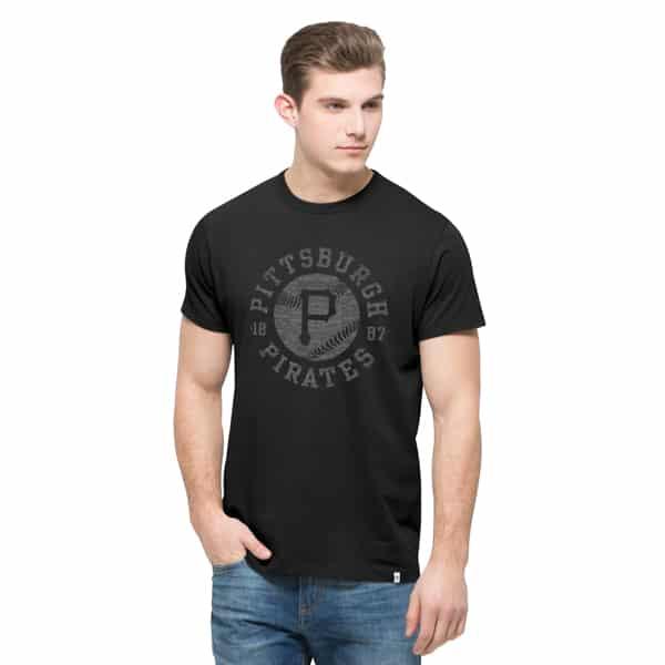 Pittsburgh Pirates Crosstown Flanker T-Shirt Mens Jet Black 47 Brand