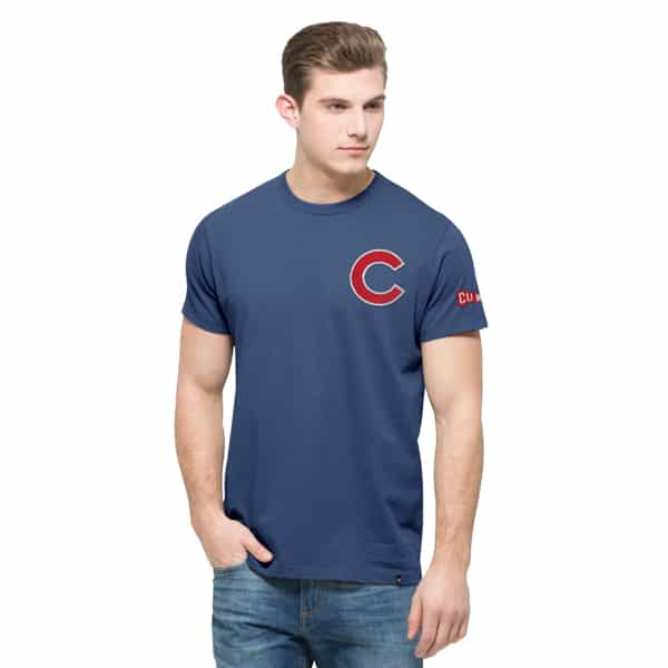 Chicago Cubs Rundown Fieldhouse T-Shirt Mens Bleacher Blue 47 Brand
