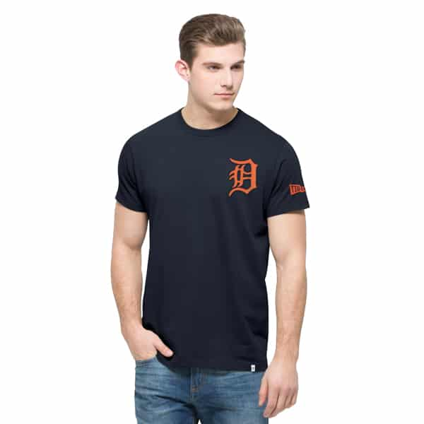 Detroit Tigers Rundown Fieldhouse T-Shirt Mens Fall Navy 47 Brand