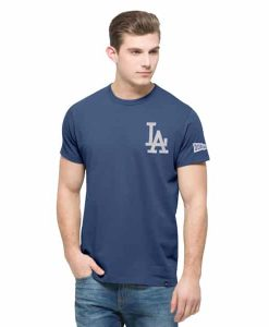 Los Angeles Dodgers Rundown Fieldhouse T-Shirt Mens Bleacher Blue 47 Brand