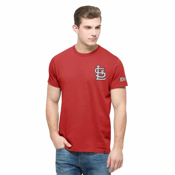 St. Louis Cardinals Rundown Fieldhouse T-Shirt Mens Rescue Red 47 Brand