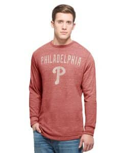 Philadelphia Phillies Team Tri-State Long Sleeve T-Shirt Mens Lava Red 47 Brand