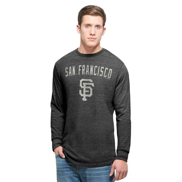 San Francisco Giants Team Tri-State Long Sleeve T-Shirt Mens Carbon Black 47 Brand