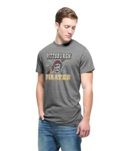 Pittsburgh Pirates Tri-State T-Shirt Mens Vintage Grey 47 Brand