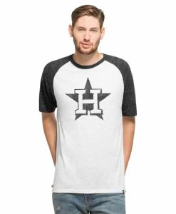 Houston Astros Tri-State Raglan Mens White Wash 47 Brand Shirt