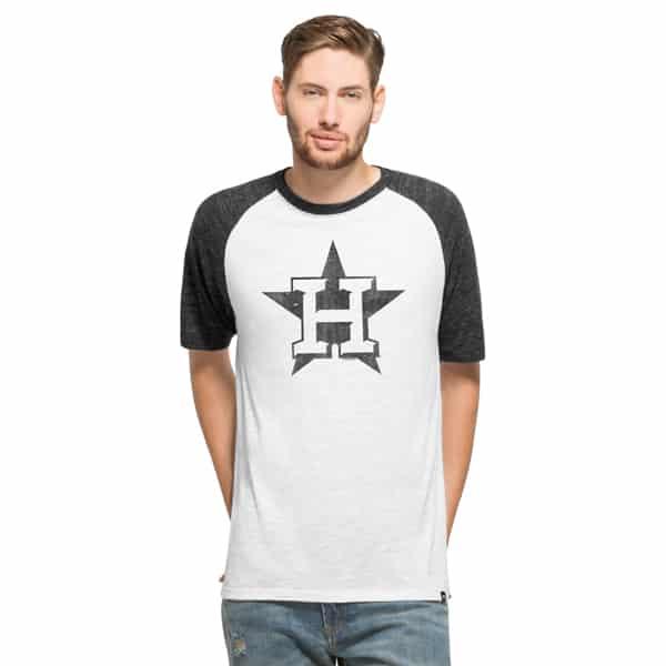 Houston Astros Tri-State Raglan Mens White Wash 47 Brand Shirt