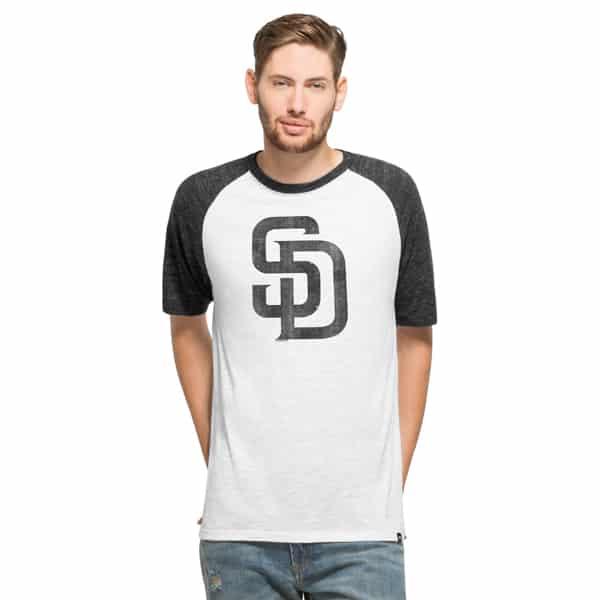 San Diego Padres Tri-State Raglan Mens White Wash 47 Brand
