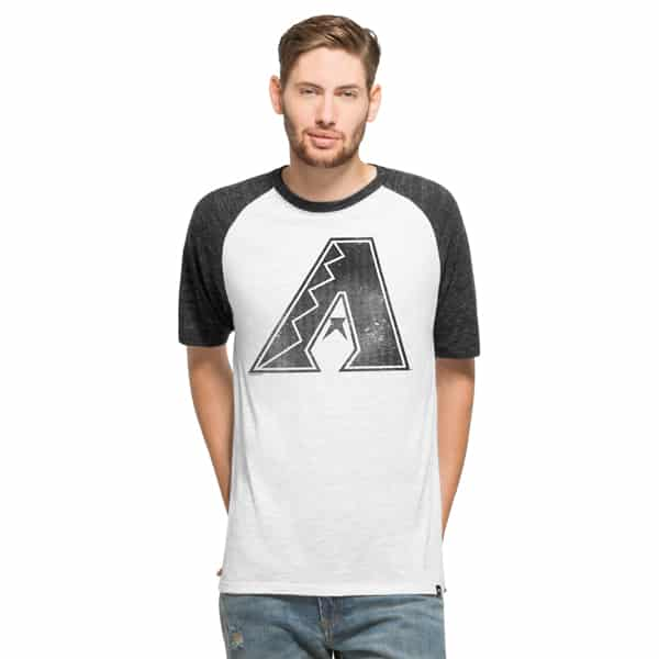 Arizona Diamondbacks Tri-State Raglan Mens White Wash 47 Brand