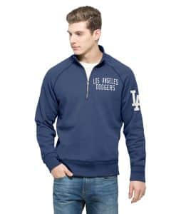 Los Angeles Dodgers Men's 47 Brand Blue 1/4 Zip Pullover