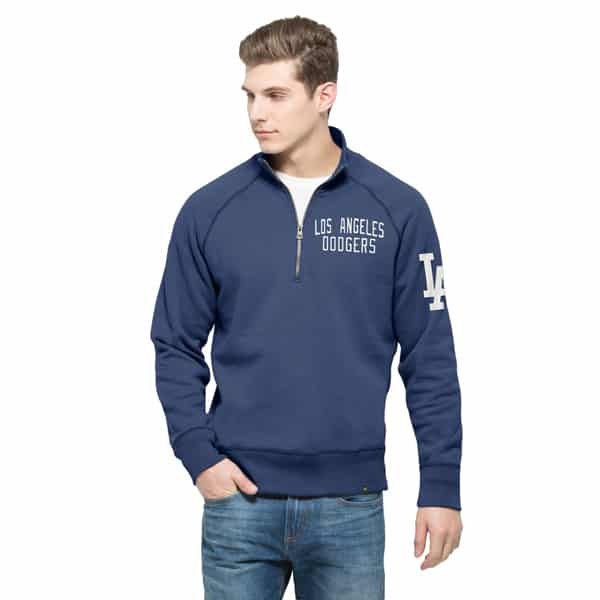 Los Angeles Dodgers Men's 47 Brand Blue 1/4 Zip Pullover