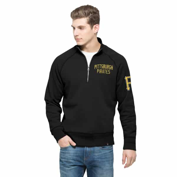 Pittsburgh Pirates Gamebreak 1/4 Zip Mens Pullover Shirt Jet Black 47 Brand