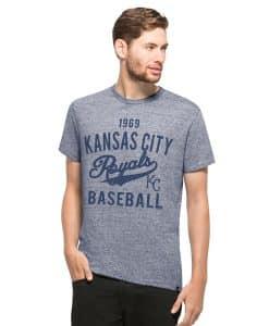 Kansas City Royals Denim T-Shirt Mens Salvaged Blue 47 Brand