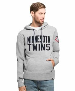 Minnesota Twins Gamebreak Cross-Check Pullover Hoodie Mens Slate Grey 47 Brand