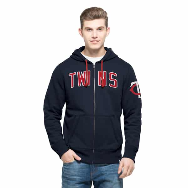Minnesota Twins Gamebreak Cross-Check Full Zip Mens Fall Navy 47 Brand