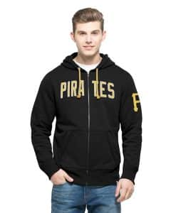 Pittsburgh Pirates Gamebreak Cross-Check Full Zip Mens Jet Black 47 Brand